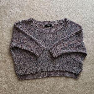 BDG Tops - BDG Dark Rainbow Knit Crop Sweater